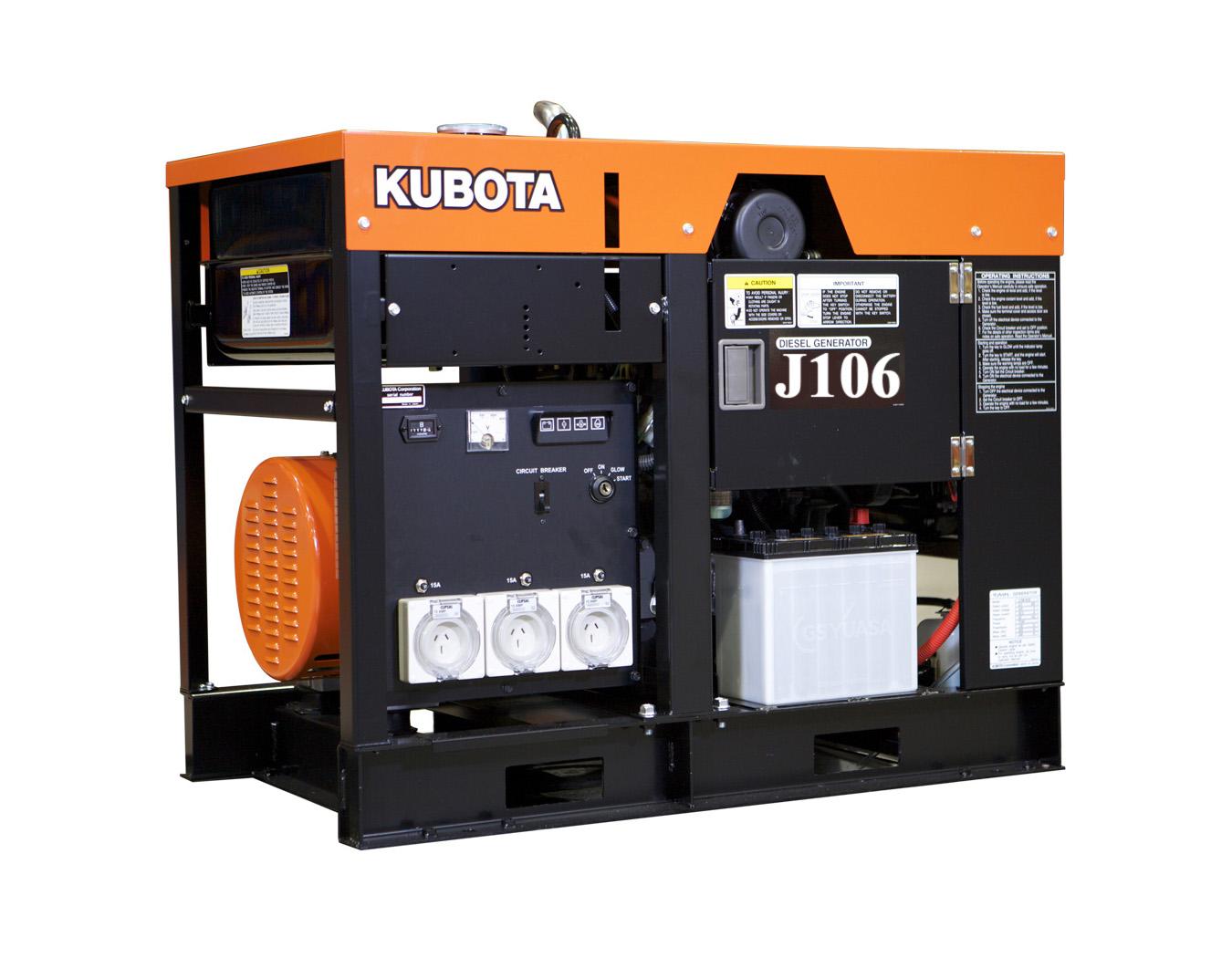 Дизельный генератор (электростанция) Kubota J106
