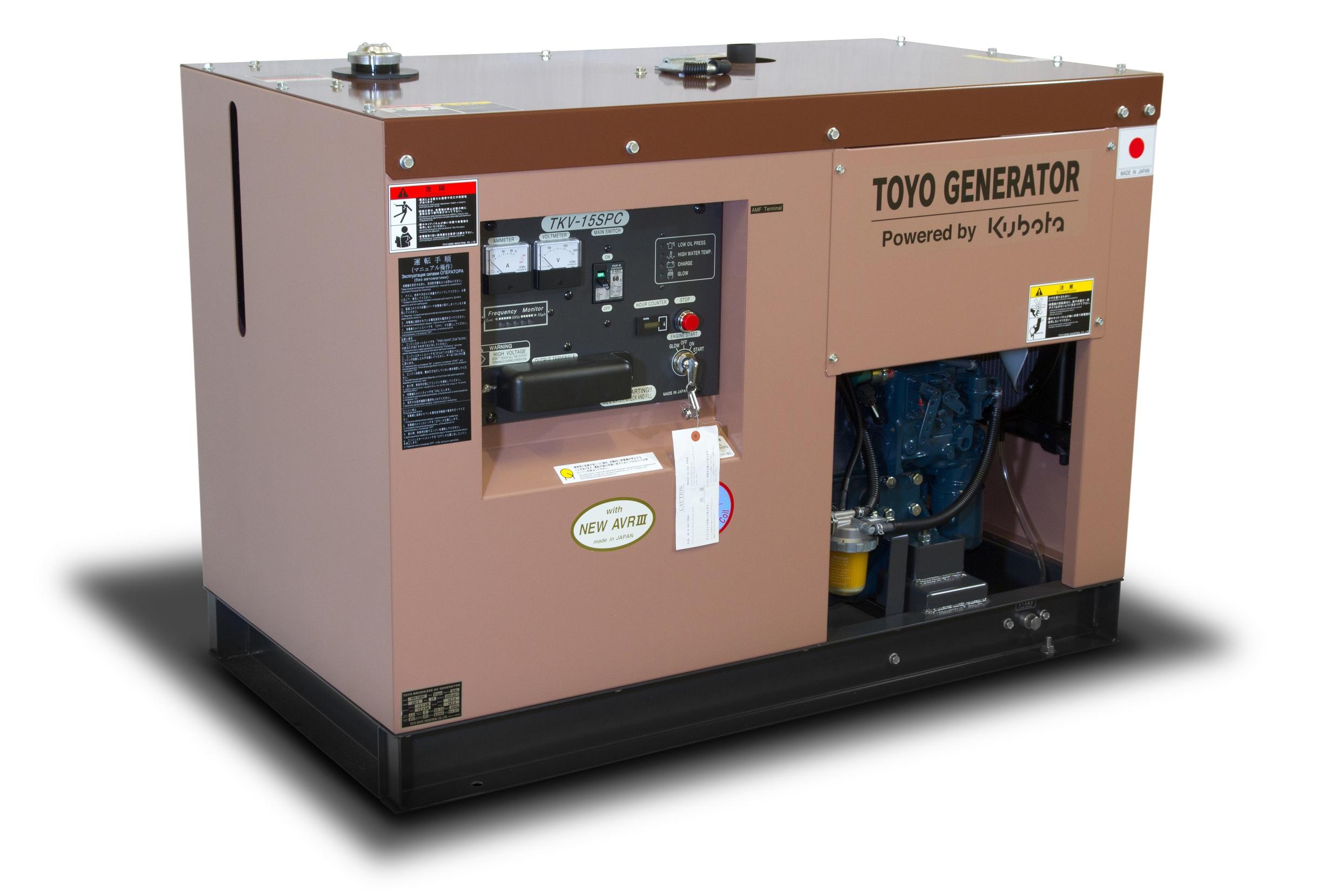 Дизельный генератор (электростанция) TOYO TKV-15SPC