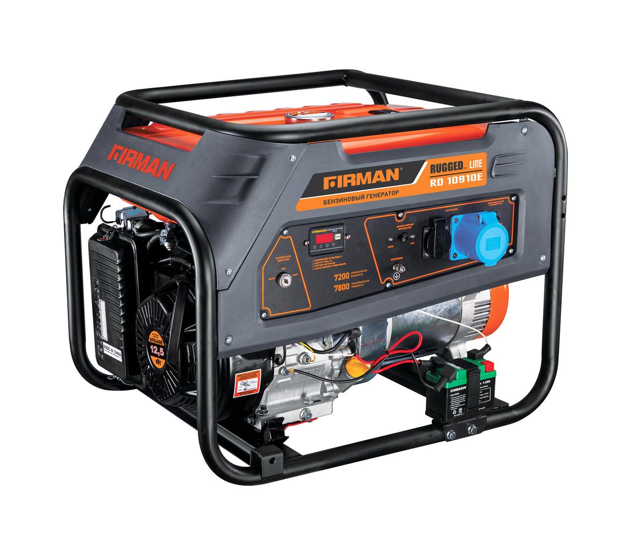 Бензиновый генератор (Бензогенератор) Firman RD10910E