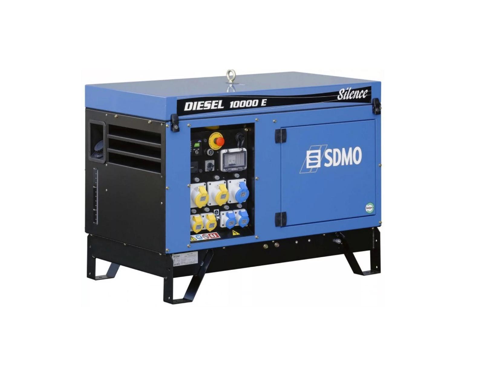 Дизельный генератор (электростанция) SDMO DIESEL 10000 E AVR SILENCE