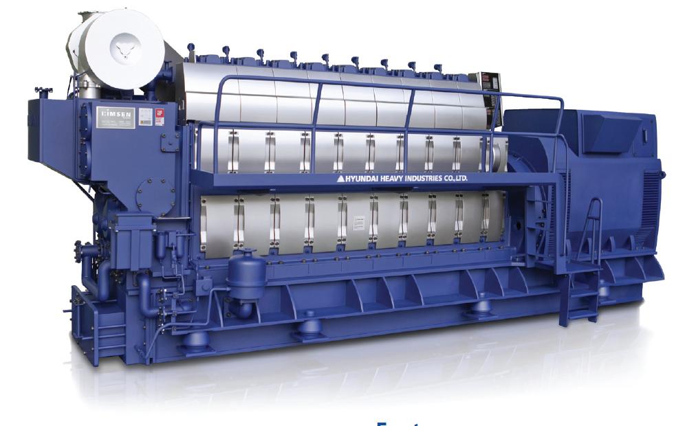 Дизельный генератор (электростанция) Hyundai HiMSEN 7H21C