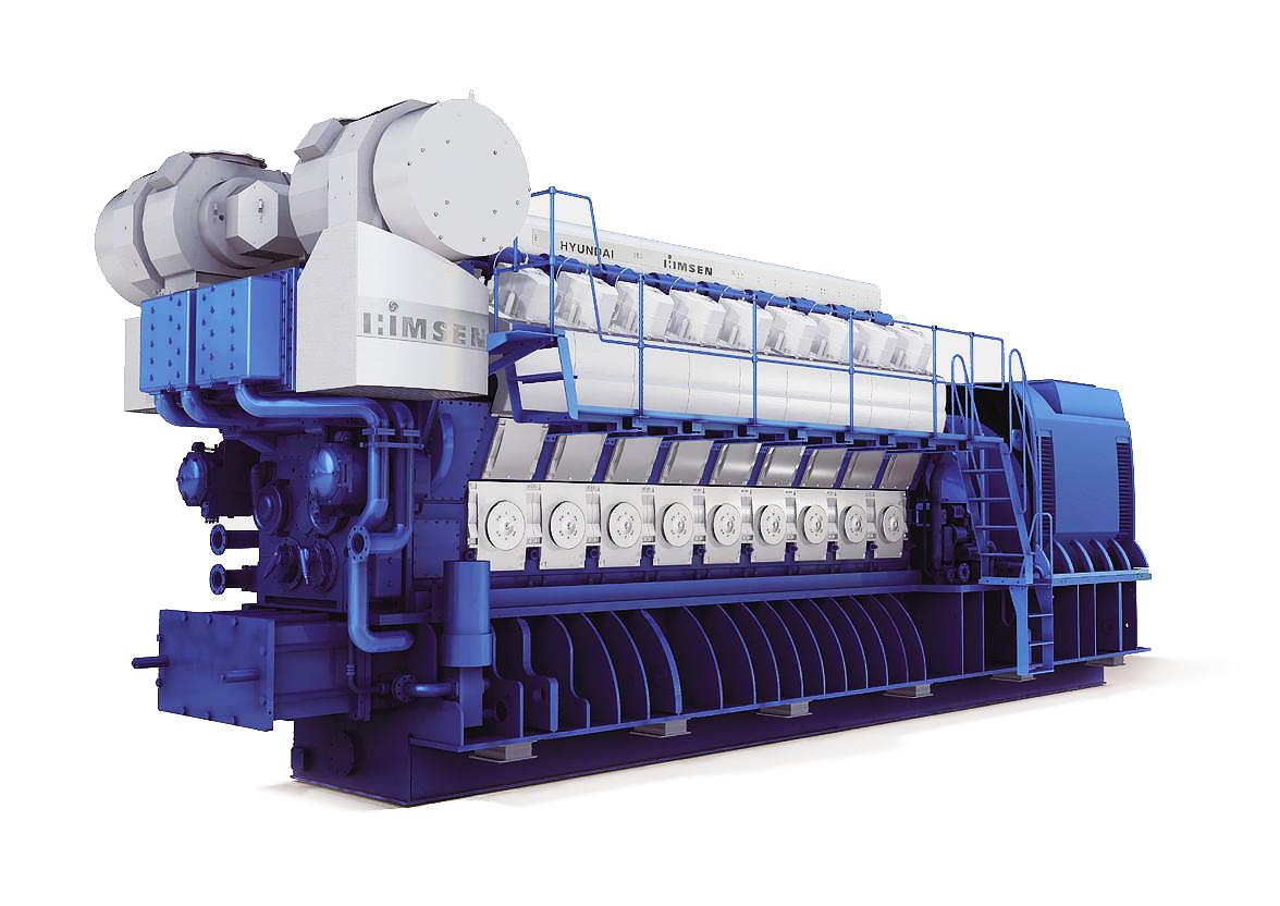 Дизельный генератор (электростанция) Hyundai HiMSEN 16H32/40V