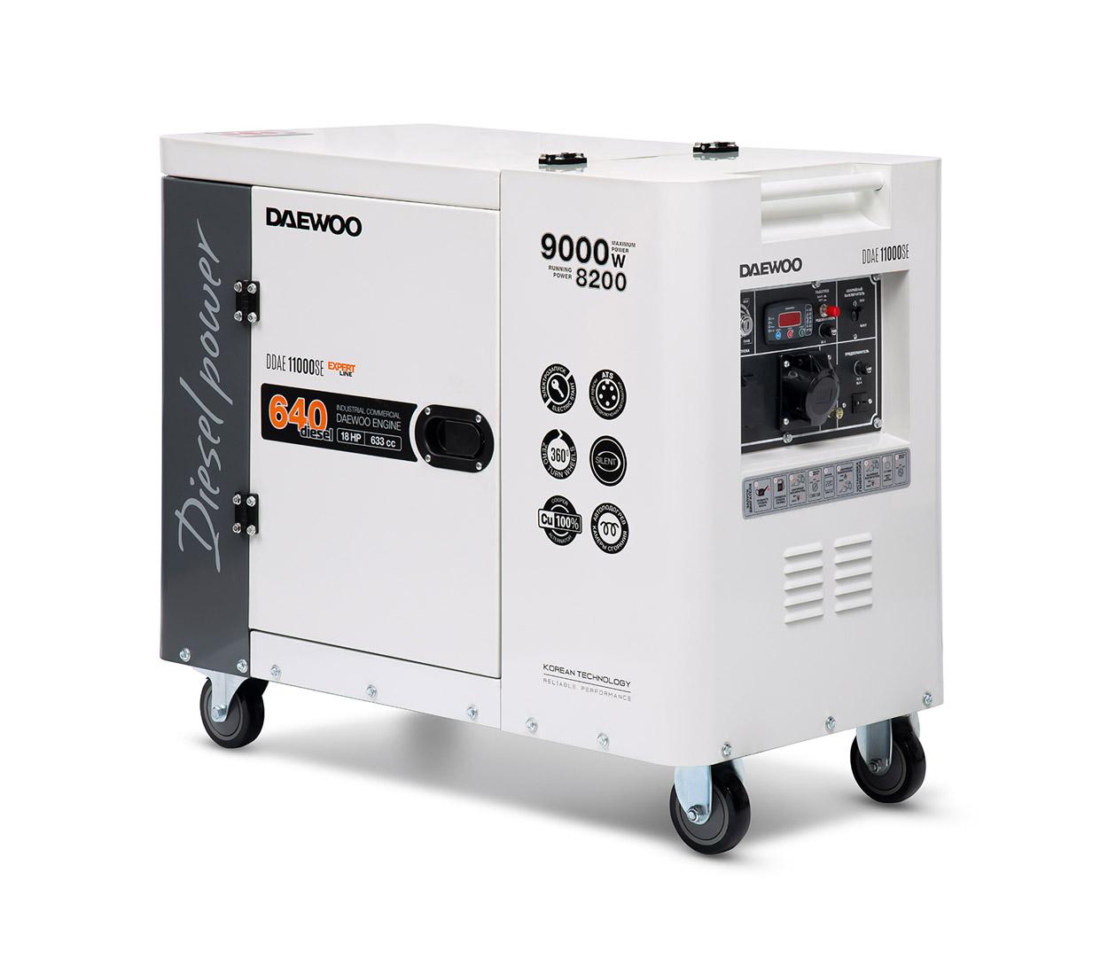 Дизельный генератор (электростанция) DAEWOO DDAE 11000SE